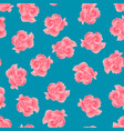 dianthus caryophyllus - pink carnation flower on vector image vector image