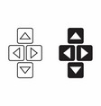 directional buttons vector image