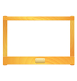 Empty wooden frame with a plate vector image vector image