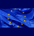 flag european union which waving in wind vector image
