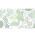floral seamless pattern with leaves with abstract vector image vector image