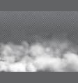 fog or clouds smoke aroma or toxic steam vector image vector image