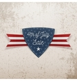 Fourth of July Sale Emblem with Ribbon vector image vector image