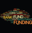 funding word cloud concept vector image vector image