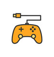 gamepad console controler flat color line vector image