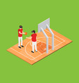gaming vr concept isometric view vector image