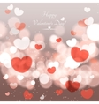 glow soft hearts valentines day background vector image vector image