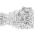 grotto bay bermuda text background word cloud vector image vector image