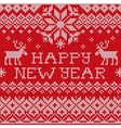 Happy New Year Scandinavian style seamless knitted vector image vector image