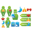 Health organs people medicine vector | Price: 1 Credit (USD $1)