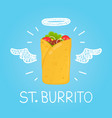 heaven burrito concept st burrito with angel vector image