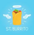 heaven burrito concept st burrito with angel vector image vector image