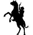 Horseback cowboy vector image