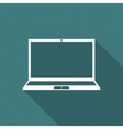 Icon laptop vector image