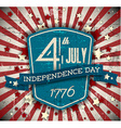 independence day badge poster vector image vector image