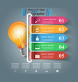 infographic design bulb light icon vector image