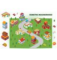 Isometric Neighborhood vector image vector image
