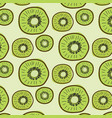 kiwi fruit pattern background vector image vector image