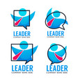 leader your business team logo emblems vector image