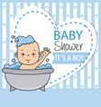little boy bathing in the bathtub vector image vector image