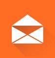 mail envelope icon isolated on orange background vector image vector image