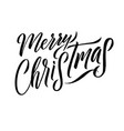 merry christmas calligraphy greeting card design vector image vector image
