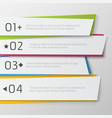 Modern paper numbered banners color Design vector image vector image