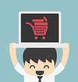 On line store on line shop internet shopping eleme vector image vector image