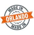 Orlando orange grunge ribbon stamp on white vector image vector image