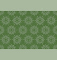 outline thai pattern floral seamless on green vector image vector image