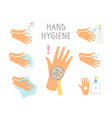 personal hand daily hygiene vector image