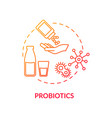probiotics red concept icon good bacteria for gut vector image