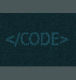 programming code background vector image