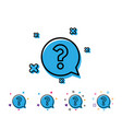 question mark line icon help speech bubble vector image vector image