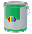 realistic paint can on white background vector image vector image