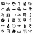 repair auto icons set simple style vector image vector image