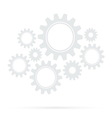 retro gear bridge isolated background vector image vector image