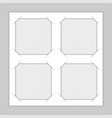 set template photo frames vector image vector image