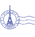 shabstamp with eiffel tower - sights paris vector image vector image