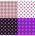 simple seamless pattern set - square background vector image vector image