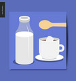 simple things - milk and coffee vector image