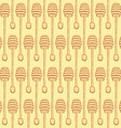 Sketch honey stick in vintage style vector image vector image