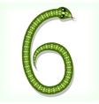Snake font Digit 6 vector image vector image