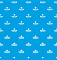 stationery pattern seamless blue vector image