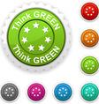 Think green award vector image vector image