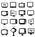 TV monitor icons set