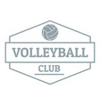 volleyball logo simple gray style vector image vector image