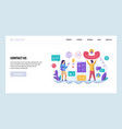 web site design template call center and vector image vector image