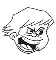 angry boy black vector image
