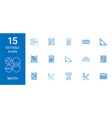 15 math icons vector image vector image